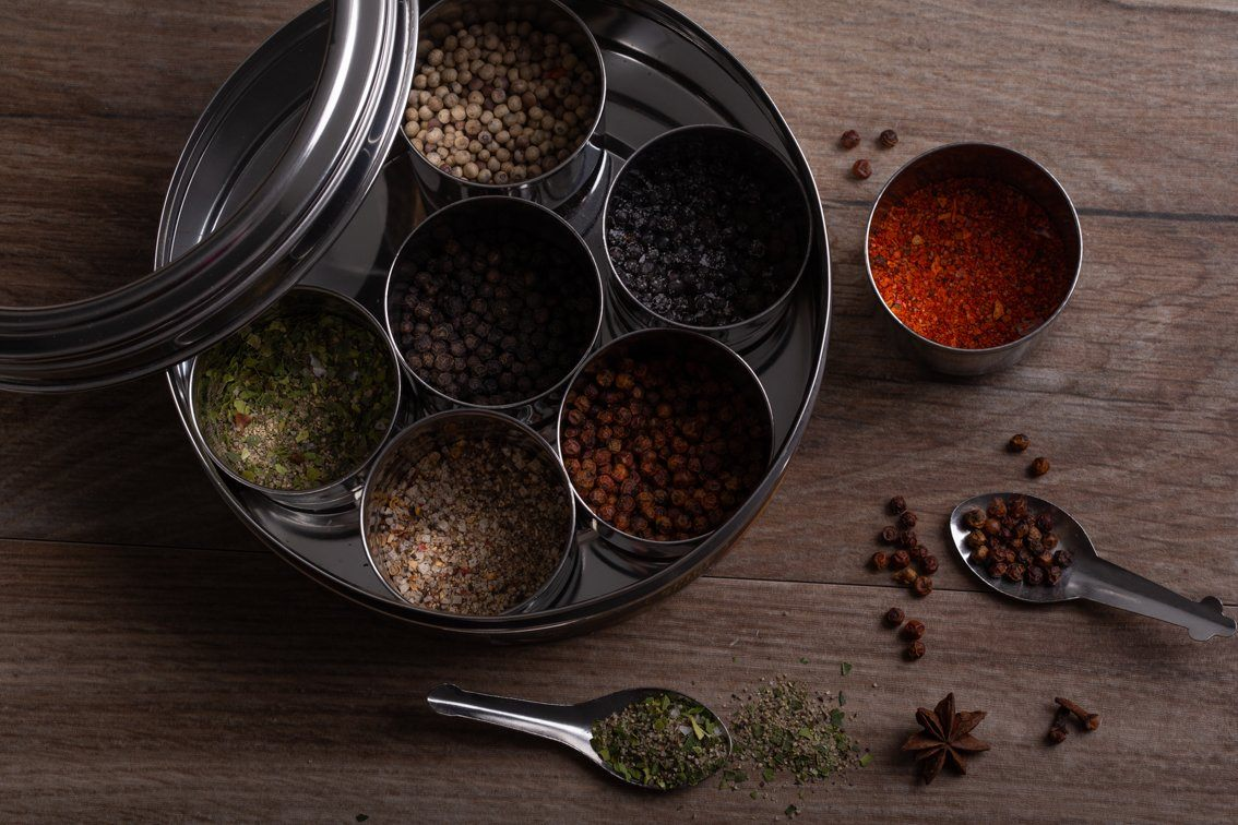 Kampot Pepper Tin with 7 Whole Peppercorns & Blends - Spice Kitchen - Spices, Spice Blends, Gifts & Cookware