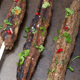 Professional Tandoor Kebab Skewers - 1 metre long, 8mm wide (Square) - Spice Kitchen - Spices, Spice Blends, Gifts & Cookware
