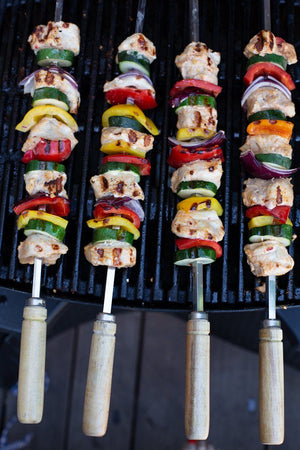 1 metre 8mm wide Round Tandoor Kebab Skewers - Spice Kitchen - Spices, Spice Blends, Gifts & Cookware