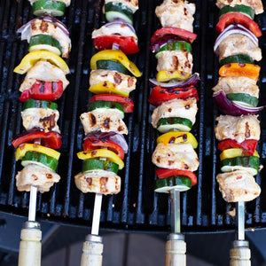 53cm 8mm wide Square Kebab Skewers for BBQ or Tandoor - Spice Kitchen - Spices, Spice Blends, Gifts & Cookware