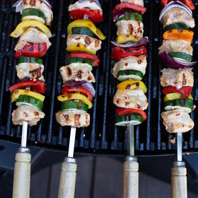 Kebab Skewers for BBQ - 53 cm long / 5mm wide (Square) - Spice Kitchen - Spices, Spice Blends, Gifts & Cookware