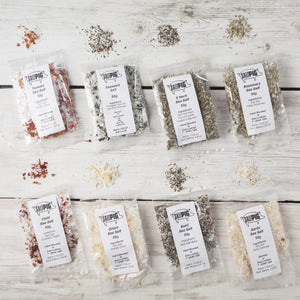 Salt Pigs Flavoured Sea Salts Collection with 7 Flavoured Salts and Stainless Steel Storage Tin - Spice Kitchen - Spices, Spice Blends, Gifts & Cookware