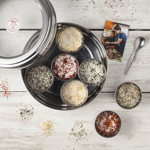 Flavoured Sea Salts Collection with 7 Flavoured Salts and Stainless Steel Storage Tin - Spice Kitchen - Spices, Spice Blends, Gifts & Cookware