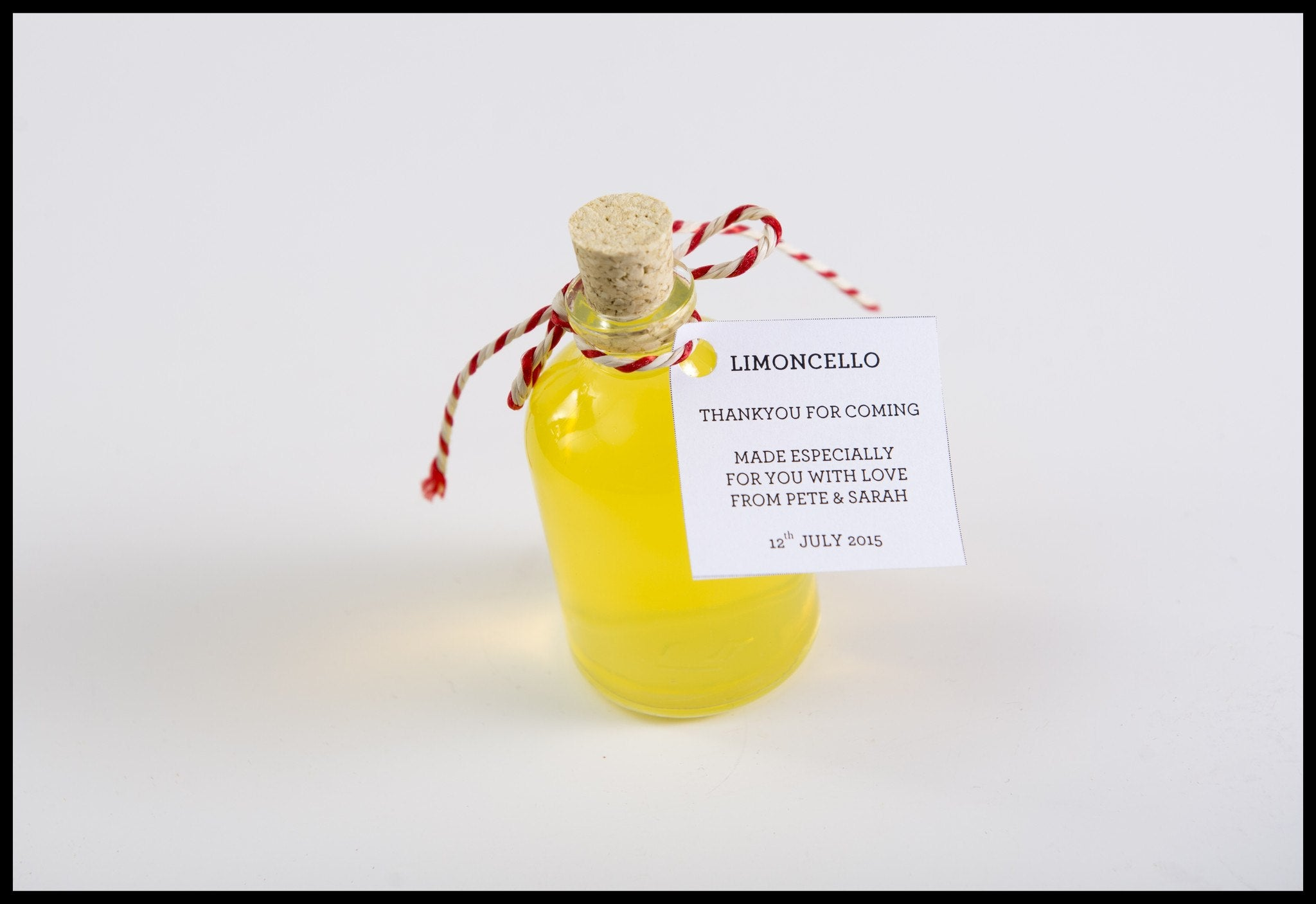 Cute Wedding Favour 50ml Glass Bottle With Cork Stopper - Spice ...