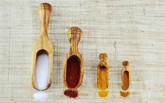 Olive Wood Spice and Salt Scoops - Spice Kitchen UK - Spices, Spice Blends, Gifts & Cookware - 1