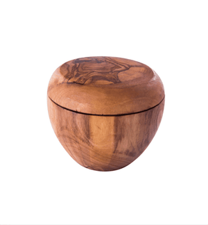 9cm Olive Wood Sugar/Salt Pot - Spice Kitchen - Spices, Spice Blends, Gifts & Cookware
