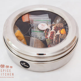 Empty Indian Spice Tin / Masala Dabba - Spice Kitchen - Spices, Spice Blends, Gifts & Cookware
