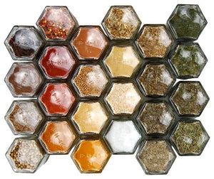 Hexagonal Magnetic Spice Jar (Empty) - Spice Kitchen™ - Spices, Spice Blends, Gifts & Cookware