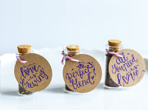Cute Wedding Favour Tea In Cork Bottle - Spice Kitchen - Spices, Spice Blends, Gifts & Cookware