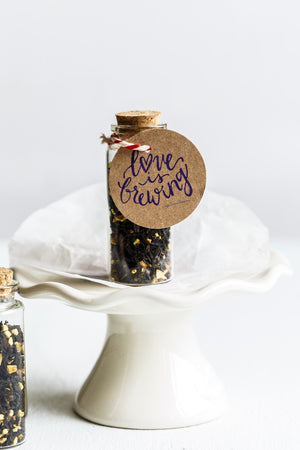 Cute Wedding Favour Tea In Cork Bottle - Spice Kitchen™ - Spices, Spice Blends, Gifts & Cookware