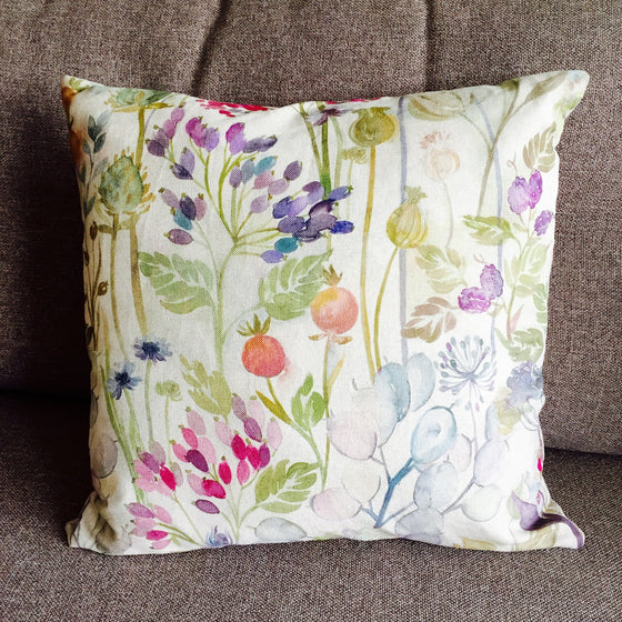 "Voyage Hedgerow Country Garden Cushion - Decorative Cushion - 18"" x 18"" - Optional Inner - Handmade to Order - Professional Seamstress - Spice Kitchen - Spices, Spice Blends, Gifts & Cookware"