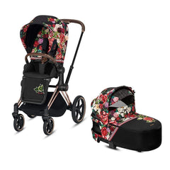 Cybex Priam Rose Gold/Spring Blossom Dark with Lux Carrycot