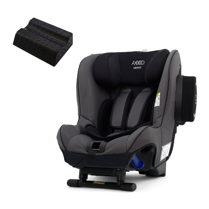 Axkid Minikid Car Seat Granite & Free Car Seat Wedge 0-25 kgs (Birth to 6 Years) 4NH71OT 7350057582367