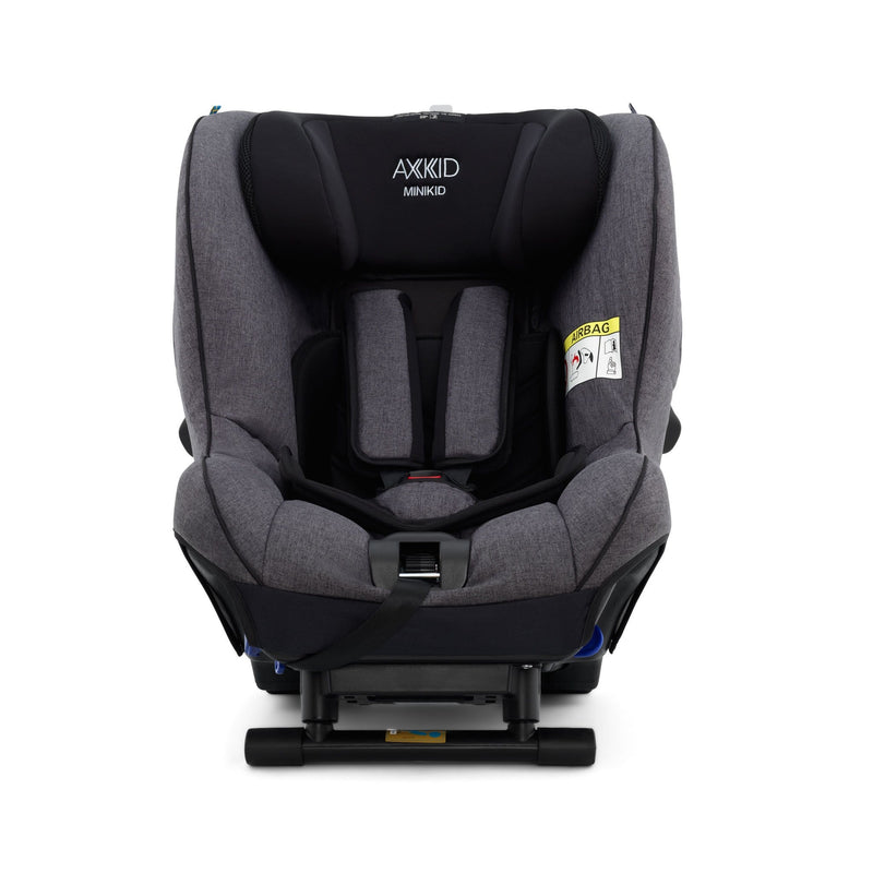 Axkid Minikid Car Seat Premium Granite Melange & Free Car Seat Wedge 0-25 kgs (Birth to 6 Years) 3RT9SFU
