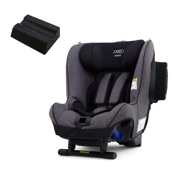 Axkid Minikid Car Seat Premium Granite Melange & Free Car Seat Wedge 0-25 kgs (Birth to 6 Years) TYQUUZL