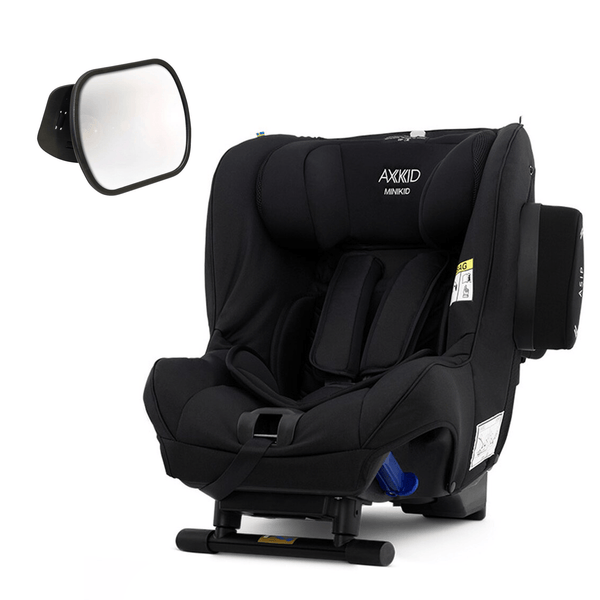 Axkid Minikid Car Seat Premium Shell Black with Free Baby Mirror Extended Rear Facing Car Seats 8213-SHL-BLK 7350057584408