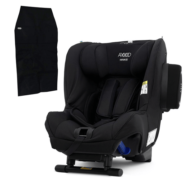 Axkid Minikid Car Seat Premium Shell Black with Free Seat Protector Extended Rear Facing Car Seats 8215-SHL-BLK 7350057584408