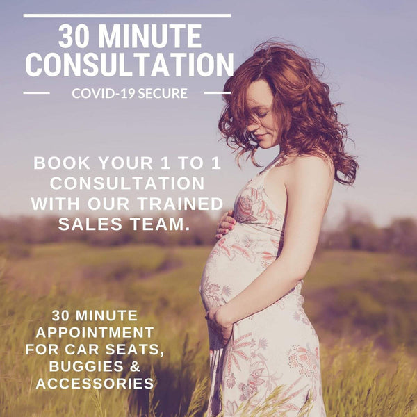 30 Minute Car Seat, Buggy & Accessory Consultation