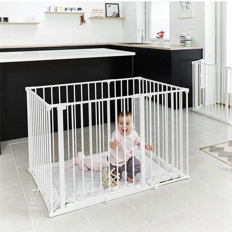 Baby Dan Square Playpen White Stair Gates & Safety Gates 69114-10400-1305 5705548034429