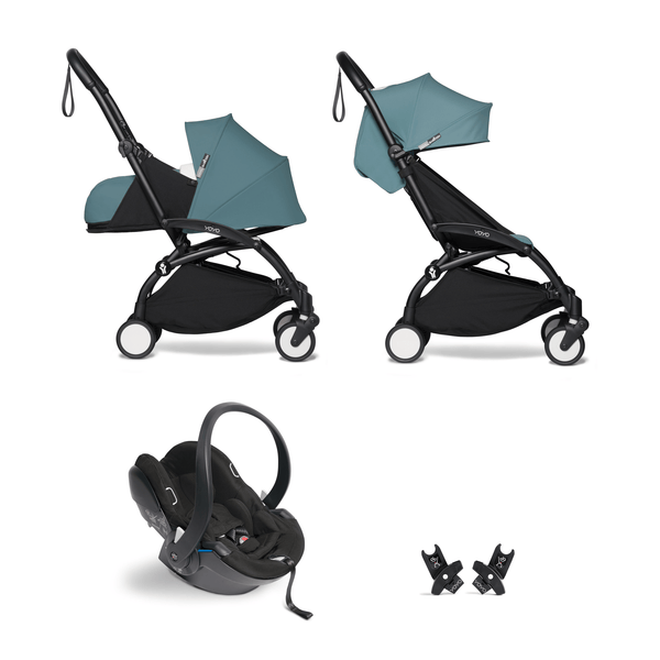 BabyZen YoYo2 All-You-Need Bundle Black/Aqua Travel Systems 6530-BLK-AQA 3701244000616