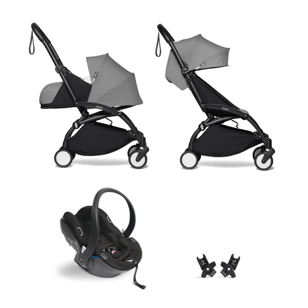 BabyZen YoYo2 All-You-Need Bundle Black/Grey Travel Systems 6529-BLK-GRY 3701244000616