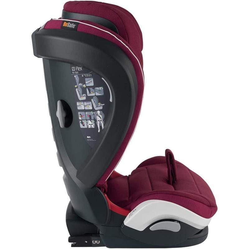 BeSafe iZi Flex FIX i-Size Car Seat Burgundy Melange 15-36 kgs (4 to 12 Years) 10010157 7072754003081