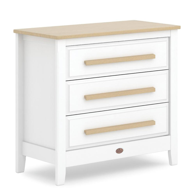 Boori Linear 3 Drawer Smart Assembly Chest Barley White & Almond Dressers & Changers B-LI3DCSA-BAAD 9328730024839