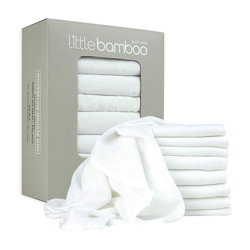 Little Bamboo Pack of 8 Muslin Squares Muslins & Swaddling 19-01-2003 9313762001880