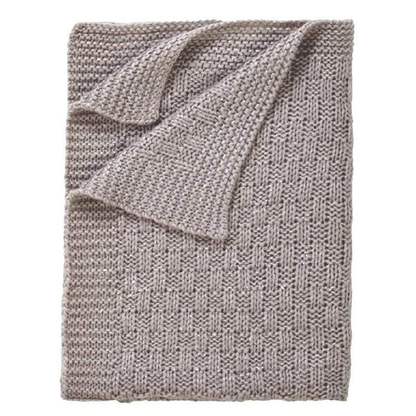 Clair De Lune Sparkle Chunky Knit Blanket Cot & Cot Bed Blankets CL6108 5033775441100