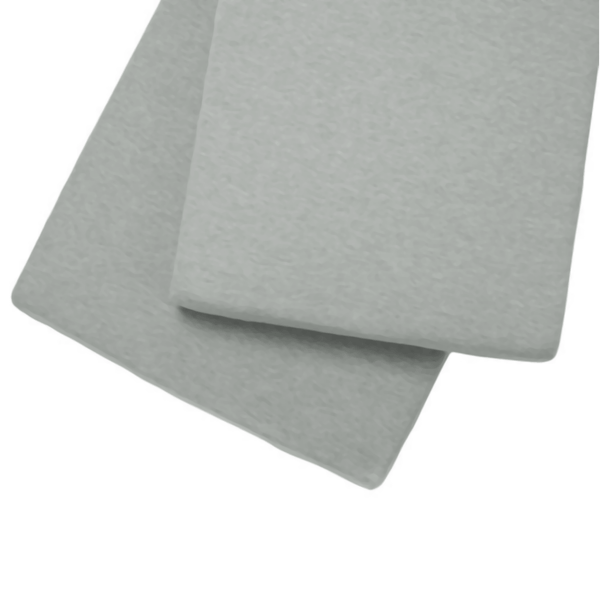 Clair de Lune Fitted Cotbed Sheet 2 Pack Grey Cot & Cot Bed Sheets CL3029GY 5033775001601