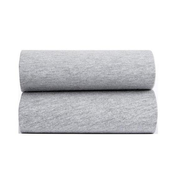 Clair De Lune Fitted Cotbed Sheet 2 Pack Grey Marl Cot & Cot Bed Sheets CL5956 5033775449106