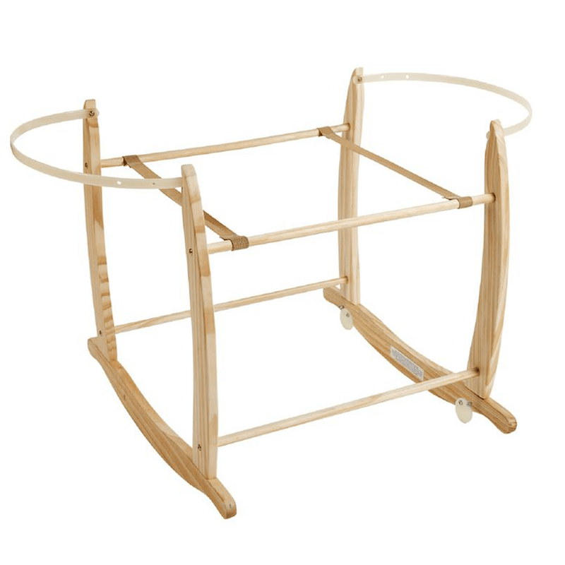 Clair de Lune Deluxe Rocking Moses Stand Natural Moses Baskets & Stands cl4281NL 5033775089807
