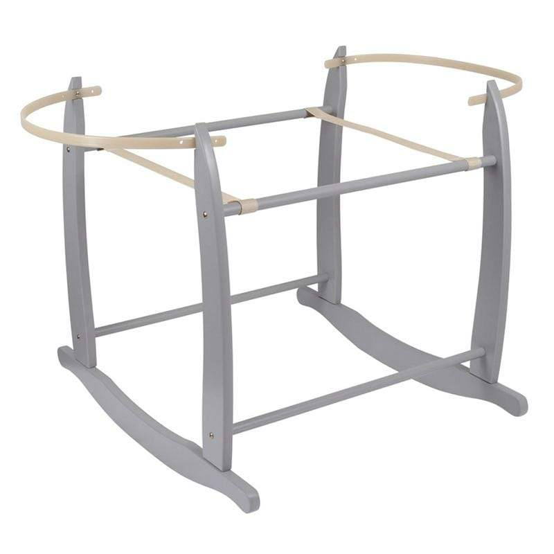 Clair De Lune Rocking Moses Stand Grey Moses Baskets & Stands CL4281GY 5033775314503