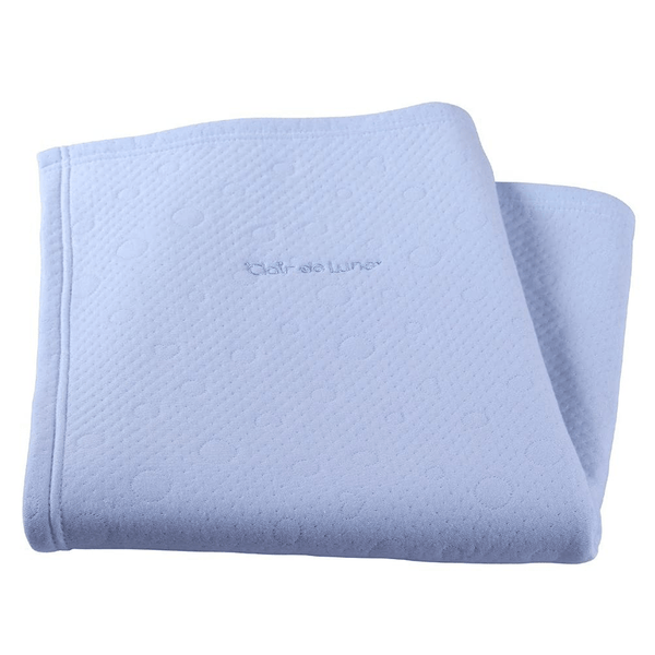 Clair de Lune Cotton Candy Blanket Baby Blue Pram & Moses Blankets CL5452BE 5033775285209
