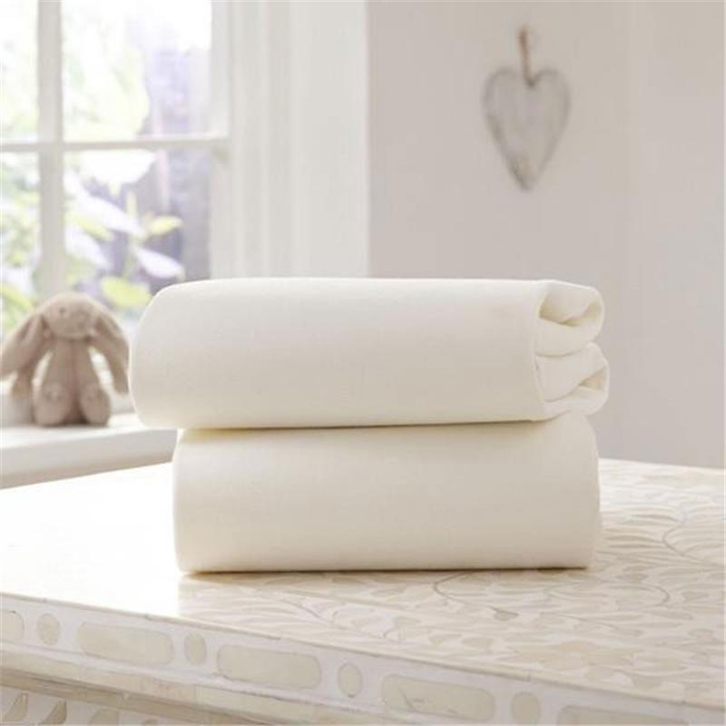 Clair De Lune Moses Fitted Sheet 2 Pack Cream Pram & Moses Sheets CL3503i 5033775015707