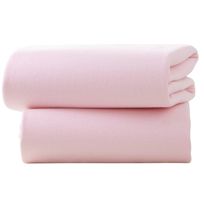 Clair De Lune Pram Fitted Sheet 2 Pack Pink Pram & Moses Sheets CL4527P 5033775088909