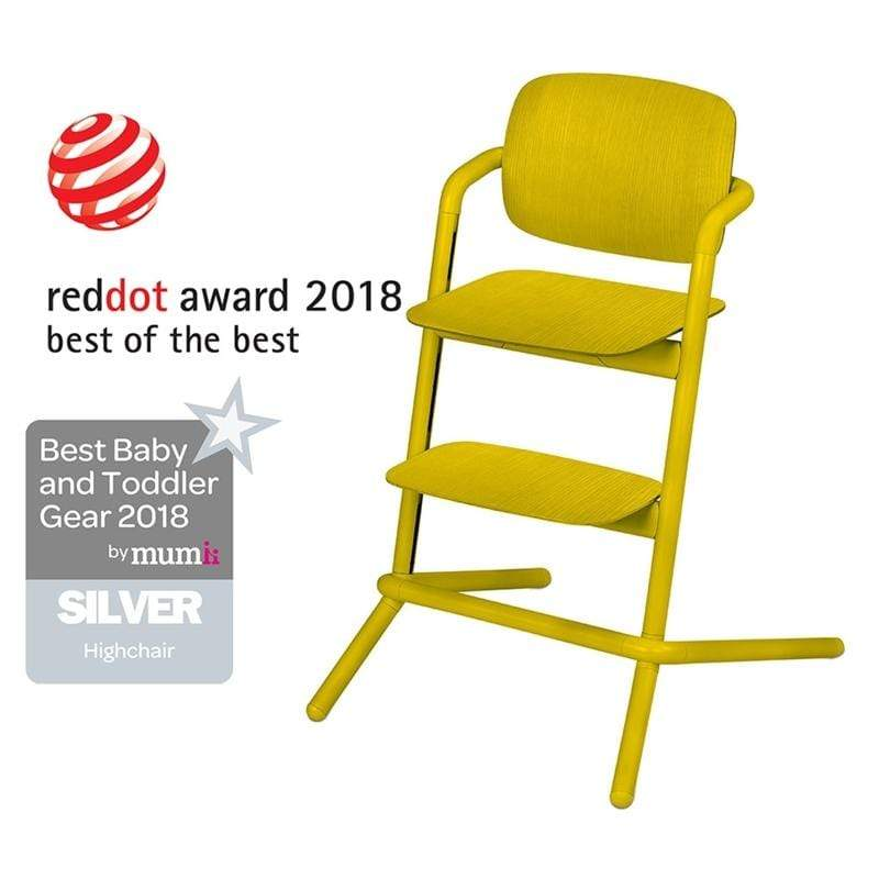 Cybex LEMO Wooden Highchair Canary Yellow Baby Highchairs 518001495 4058511266480