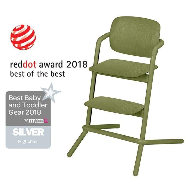 Cybex LEMO Wooden Highchair Outback Green Baby Highchairs 518001493 4058511266404