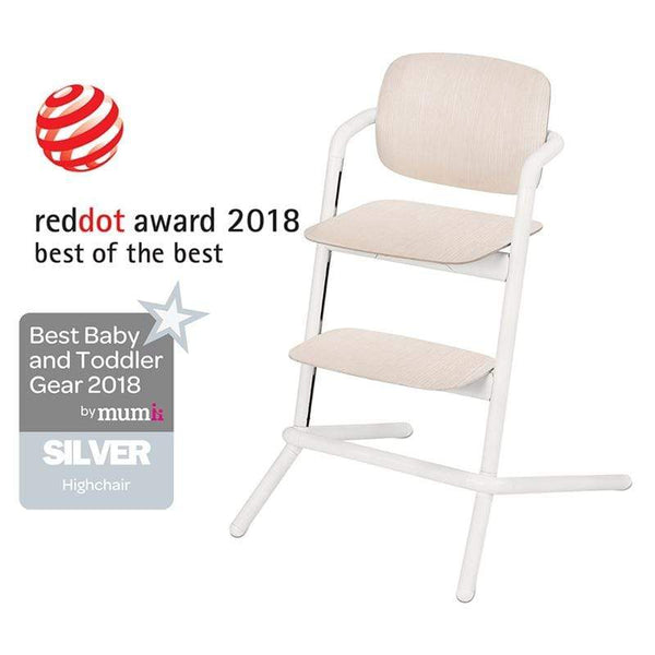 Cybex LEMO Wooden Highchair Porcelaine White Baby Highchairs 518001499 4058511266640