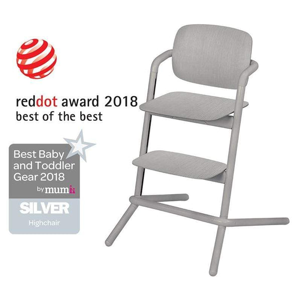 Cybex LEMO Wooden Highchair Storm Grey Baby Highchairs 518002077 4058511299310