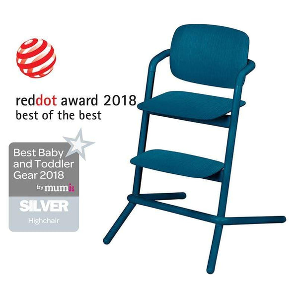 Cybex LEMO Wooden Highchair Twilight Blue Baby Highchairs 518001497 4058511266565