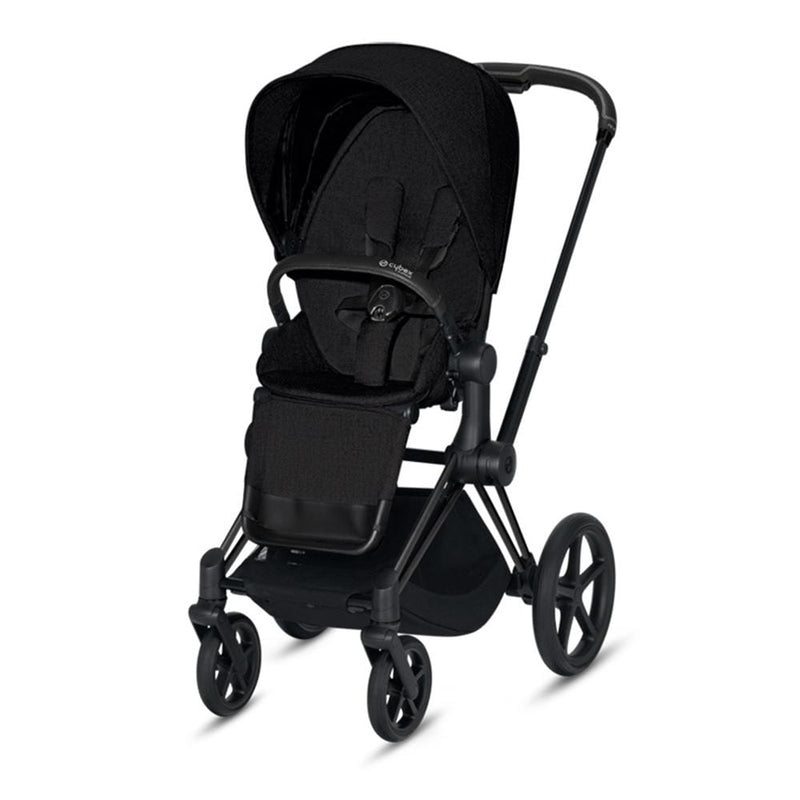 Cybex Priam & Lux Cot Matt Black/Stardust Black Plus Pushchairs & Buggies lqo52ly 4058511577517