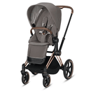 Cybex Priam & Lux Cot Rose Gold/Soho Grey Baby Prams 6405-RG-SG 40585115775593