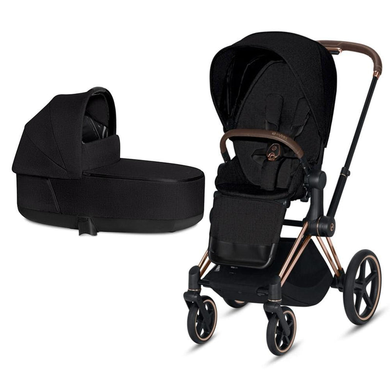 Cybex Priam & Lux Cot Rose Gold/Stardust Black Plus Baby Prams jpdtf3e 4058511577593
