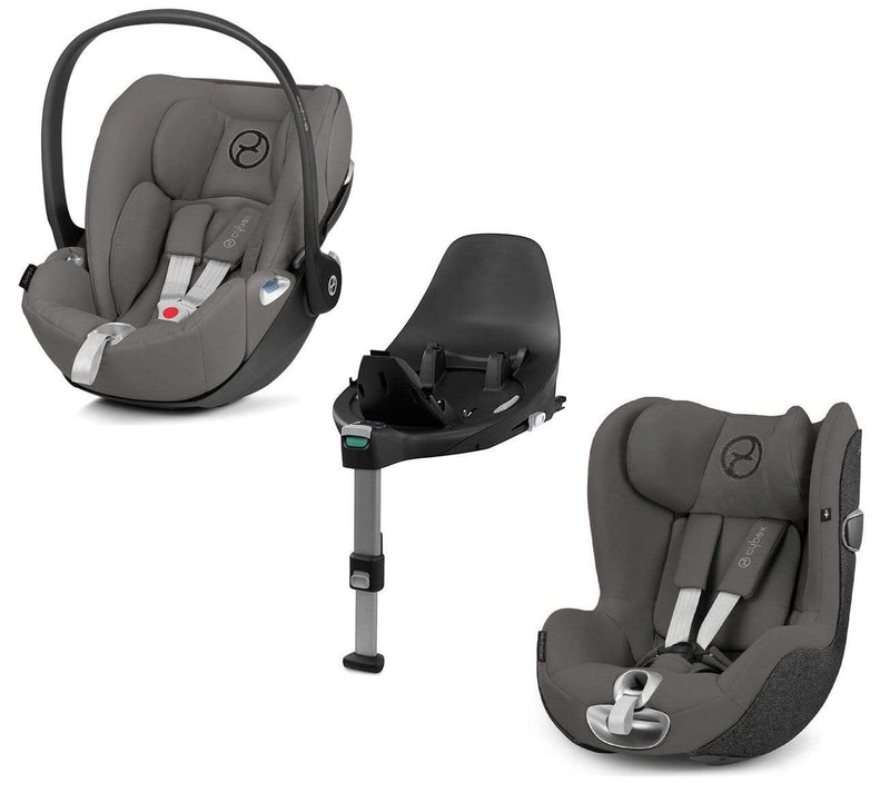 Cybex Cloud Z & Sirona Z Soho Grey with Base Z Extended Rear Facing Car Seats SLEHTNA 4058511800929