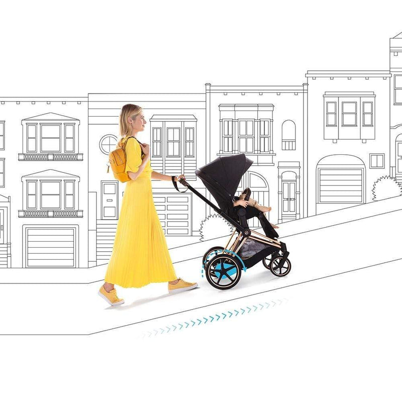 Cybex e-Priam Pushchair Rose Gold/Premium Black Pushchairs & Buggies k0od8fz 4058511597652