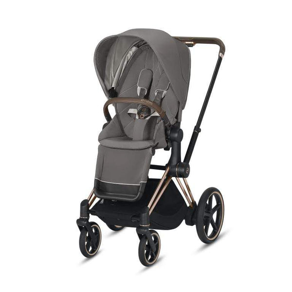 Cybex e-Priam Pushchair Rose Gold/Soho Grey 2020 Pushchairs & Buggies 6310-ROSE-SGRY 4058511597652