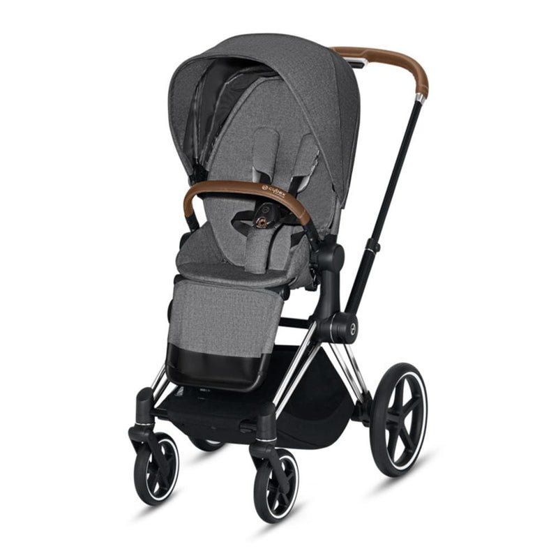Cybex Priam Pushchair Chrome/Brown/Manhattan Grey Plus Pushchairs & Buggies 165iir7 4058511577432