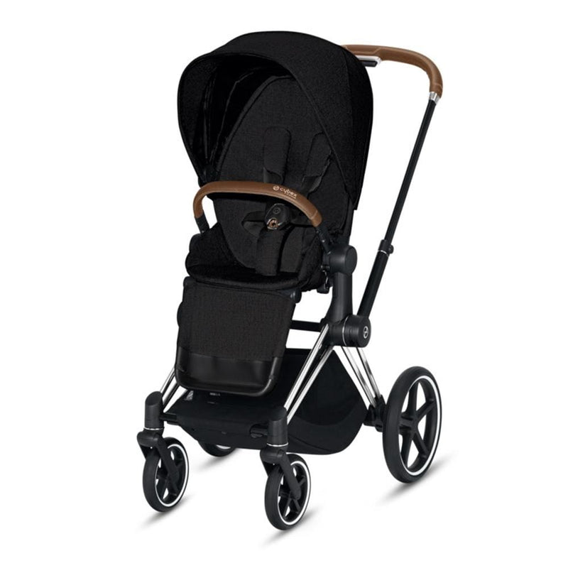 Cybex Priam Pushchair Chrome/Brown/Stardust Black Plus Pushchairs & Buggies 35k0hwt 4058511577432