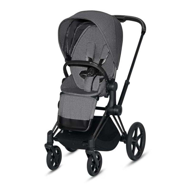 Cybex Priam Pushchair Matt Black/Manhattan Grey Plus Pushchairs & Buggies krt8het 4058511577517